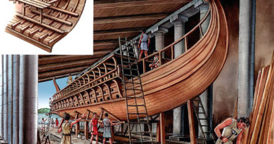 La flotta da guerra romana e le navi di supporto